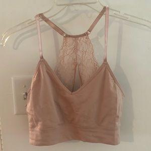 Dusty pink Lacey back bra